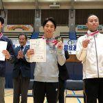 東日本トランポリン選手権で上山容弘が男子個人2位。3人同点の最高難度点賞受賞!