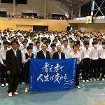 前卓球女子代表監督の村上恭和が天理市の高校で講話。「考え方で人生は変わる」
