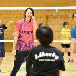 大山加奈が体育の日に今年で3回目の「品川区バレーボール教室」講師