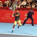 杉田祐一が錦織圭選手とプロ初対戦。序盤のチャンス逃しストレートでの敗戦