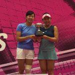 穂積絵莉が国内初戦「島津全日本室内テニス選手権」ダブルスで、今季初優勝!