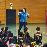 大山加奈が宮崎県内の小学生約200名を指導。見学の指導者にとっても勉強に