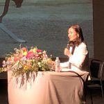 谷真海が愛知県岡崎市で講演。2020年への挑戦を続ける想いを伝えました。