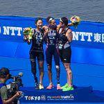 谷真海がお台場での東京パラリンピックテスト大会に出場。ホームの応援を力に2位完走