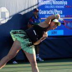 穂積絵莉・二宮真琴ペアは、全米オープン1回戦でフルセットを戦い惜敗