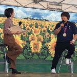杉本美香が米子市での「秋のBSS祭り2019」で「ワールドマスターズゲームズ」を積極PR