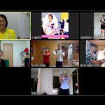 大山加奈が親子一緒に身体を動かすオンラインプログラムを実施。次回にも手応え
