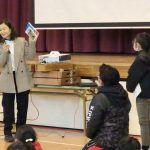 谷真海が仙台市の小学校で講演。コロナで制限された生活を送る児童たちにエール